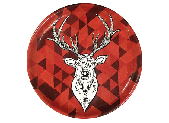 Abstract Design Reindeer Christmas Wall Plate