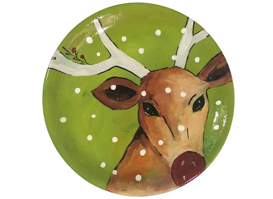 Abstract Design Christmas Wall Décor Plate
