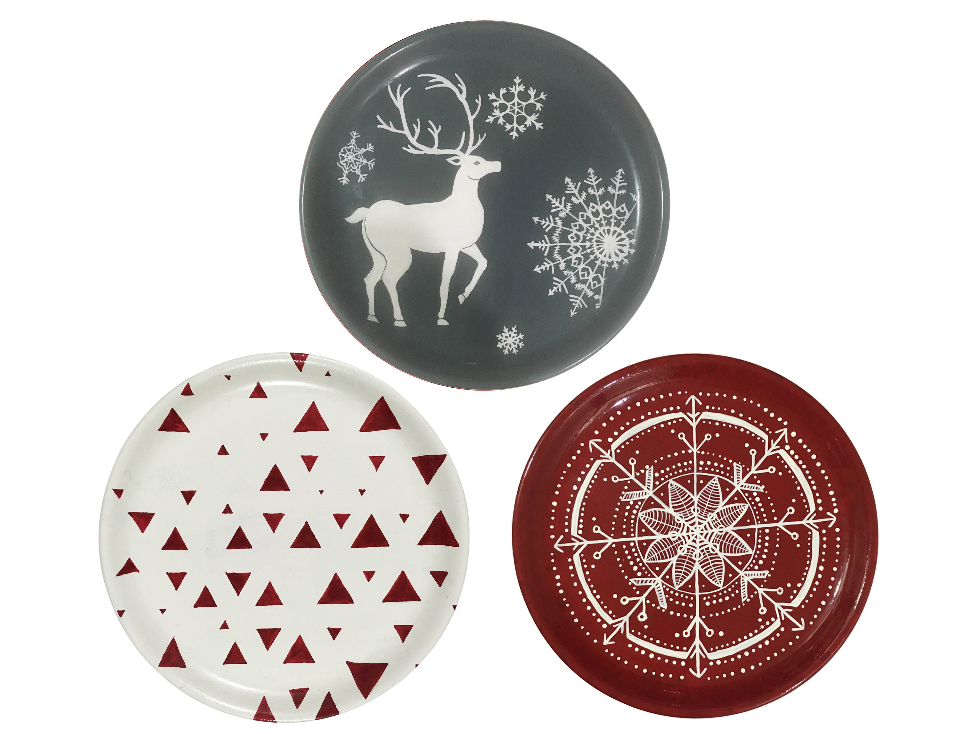 Decorative Christmas Wall Plate Set of 3  sc 1 st  CraftedIndia & Buy Decorative Christmas Wall Plate Set of 3 at Lowest Rates On ...