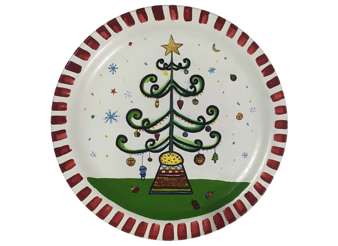 Christmas Tree wall plate