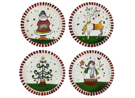 """ Christmas Wall Plate Decor Set of 4 """