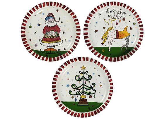 Decorative Hand-painted Festive Wall Plate Set of 3  sc 1 st  CraftedIndia & Hand-Painted Ceramic Wall Plates - Buy Decorative Ceramic Wall ...