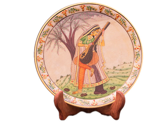 Bani thani art marble decor plate