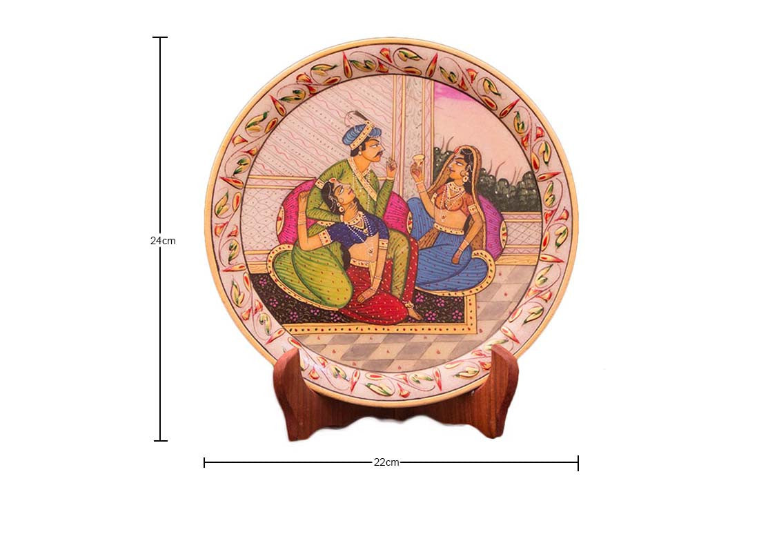 Couple Design Marble Plate
