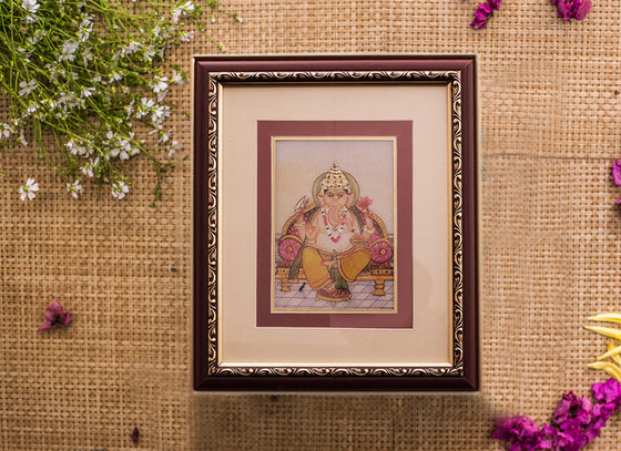 Ganesha Design Wall Hanging Frame