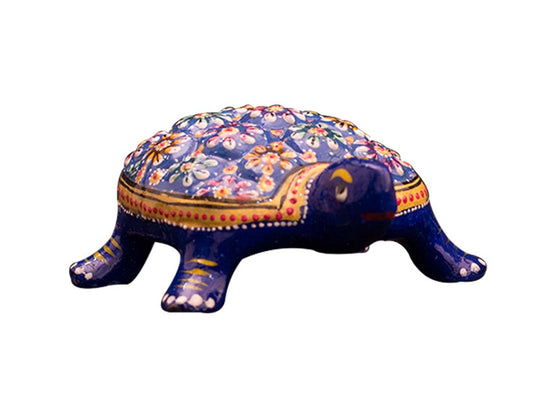 Meenakari design turtle showpiece