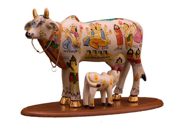 Big hand-painted divine cow