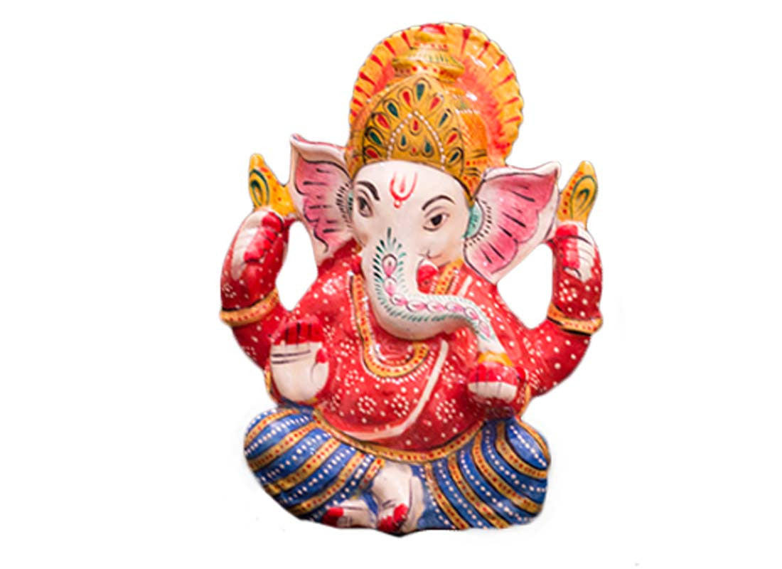 red Ganesha idol