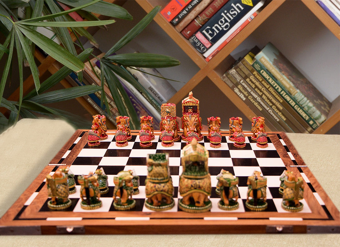 ... Chess Sets Wooden Buy Handcrafted Motifs Wooden Chess Board Game At  Lowest Rates On ...