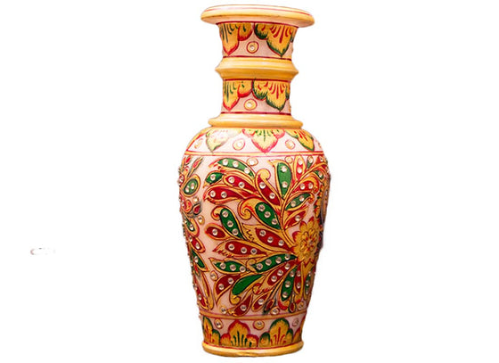 hand-painted marble flower vase