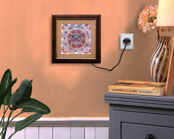 Ethnic Meenakari Painting LED Wall Clock