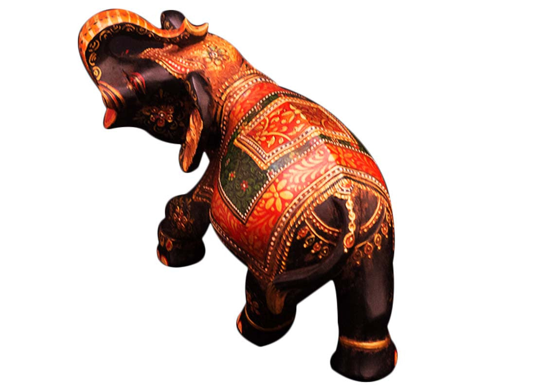 royal wooden elephant figurine