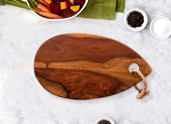 Oval Shape Chopping Board cum Serving Platter