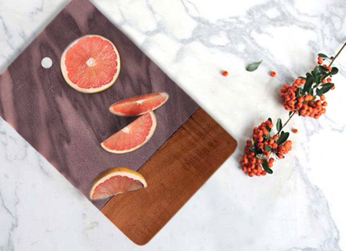 Flat Grey Marble Chopping Board