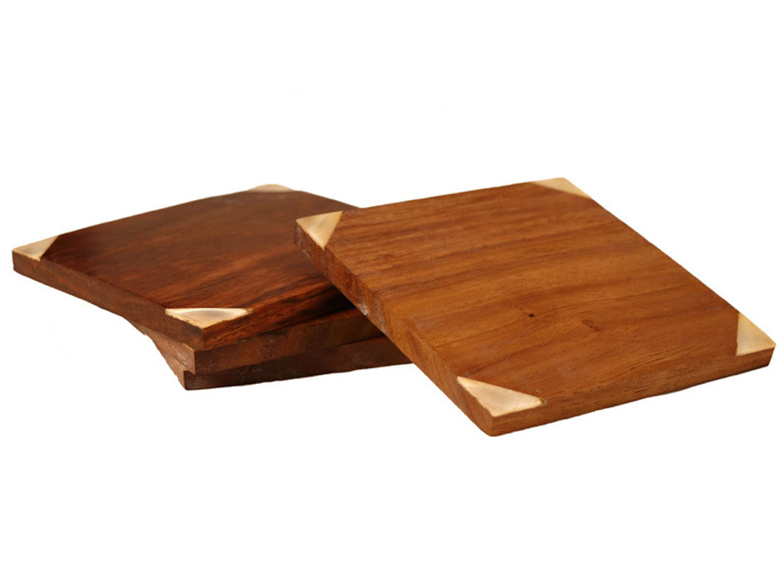 Decorative Wooden Coaster Set of 4