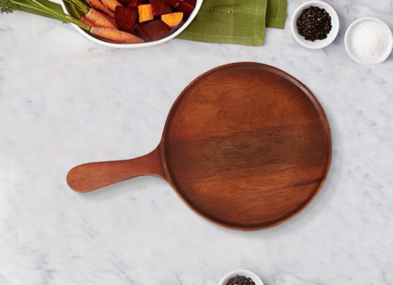 Classic Round Wooden Pizza Server