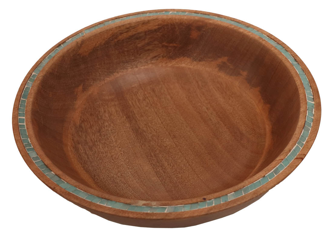 Elegant Wooden Salad Serving Bowl