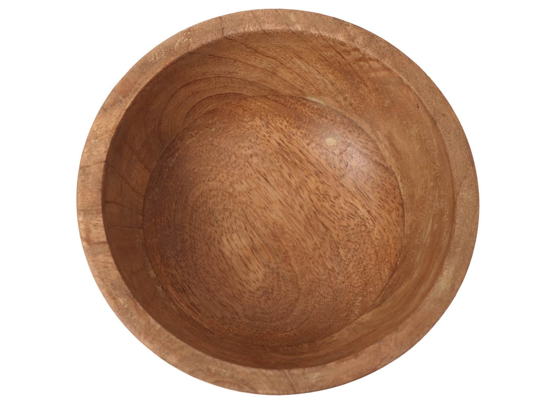 Handcrafted Wooden Nut Serving Bowl