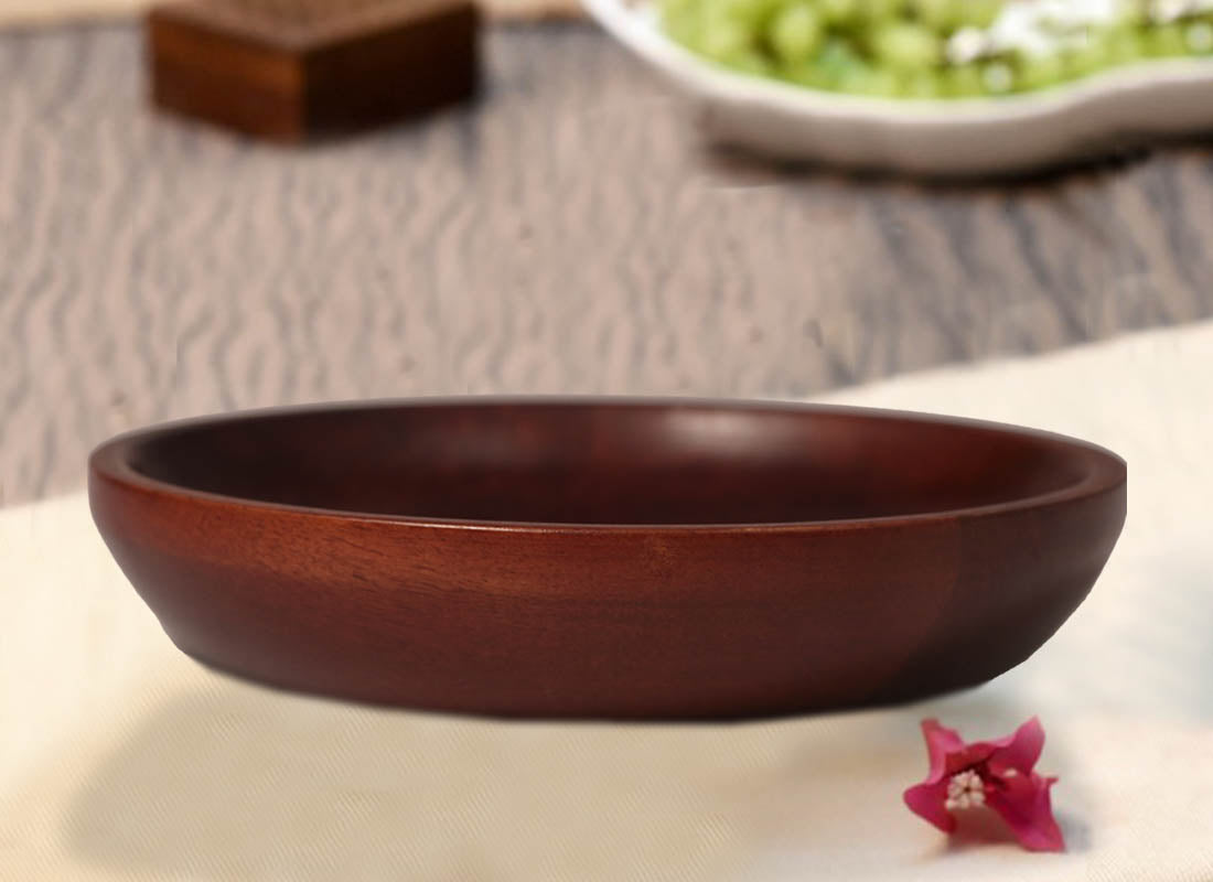 Classic Wooden Serving Plate
