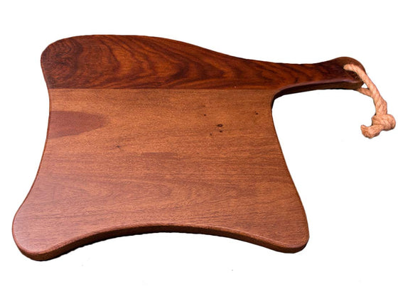 Handcrafted stylish wooden serving platter