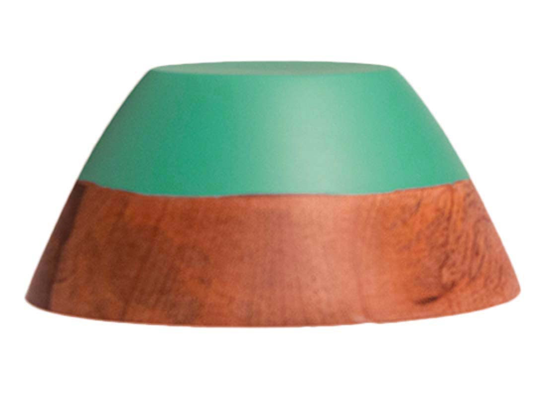 Green Color Wooden Serving Bowl