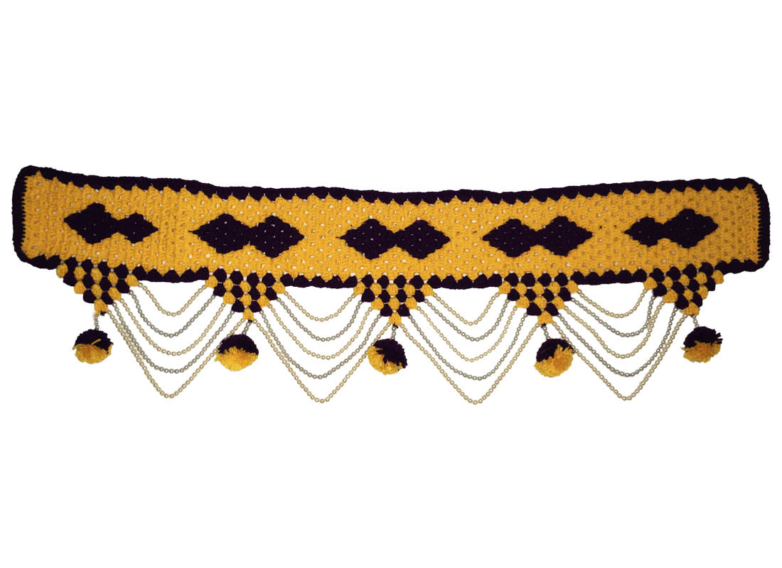 Decorative Yellow Woolen Knit Toran for Door