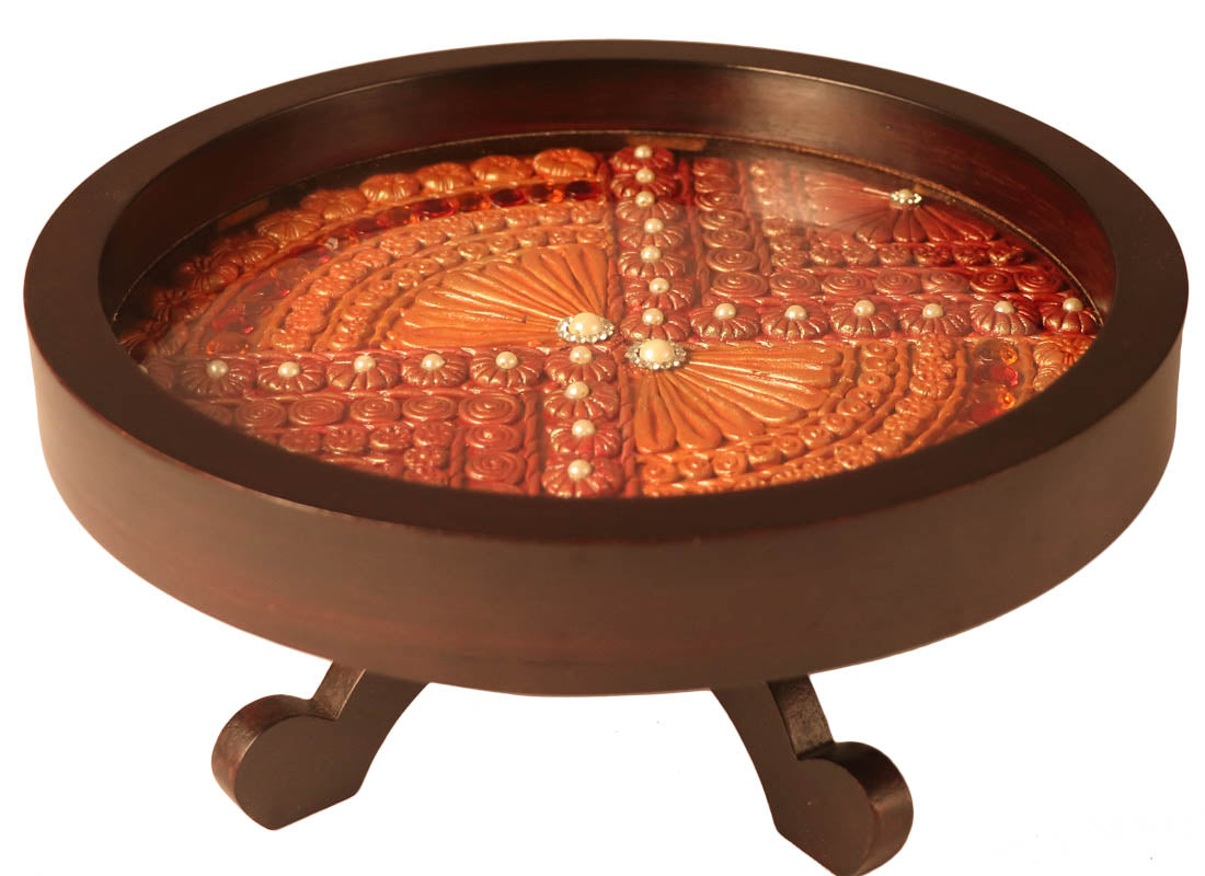 Decorative Rotating Tray for Dining Table