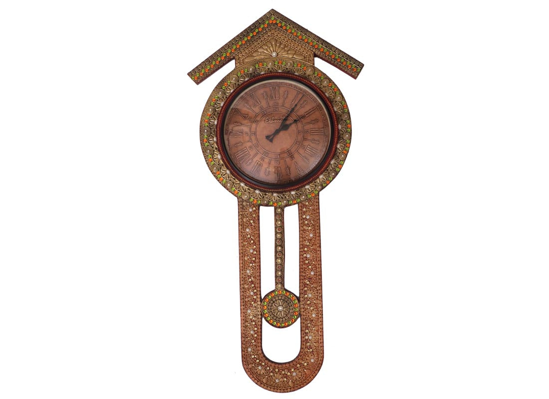 Buy hand painted wooden pendulum wall clock online at discount prices hand painted wooden pendulum wall clock amipublicfo Image collections