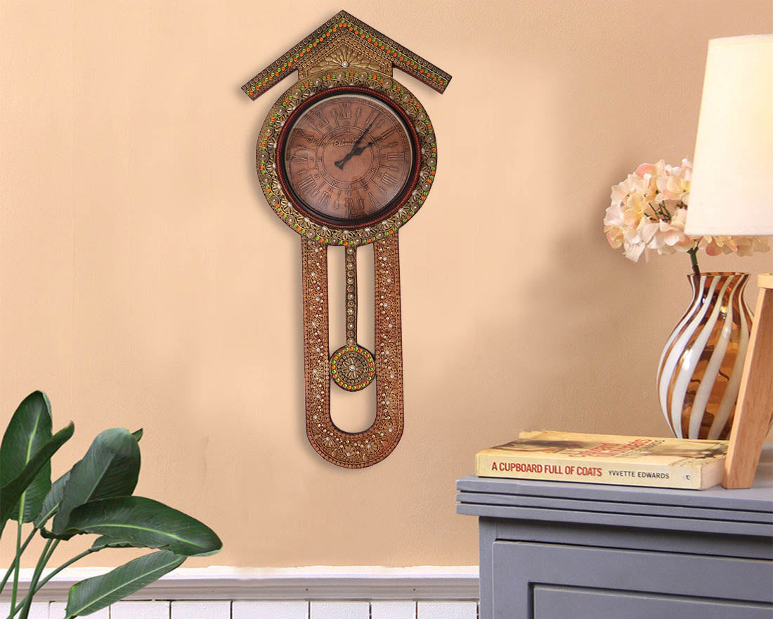 Buy hand painted wooden pendulum wall clock online at discount prices hand painted wooden pendulum wall clock amipublicfo Choice Image