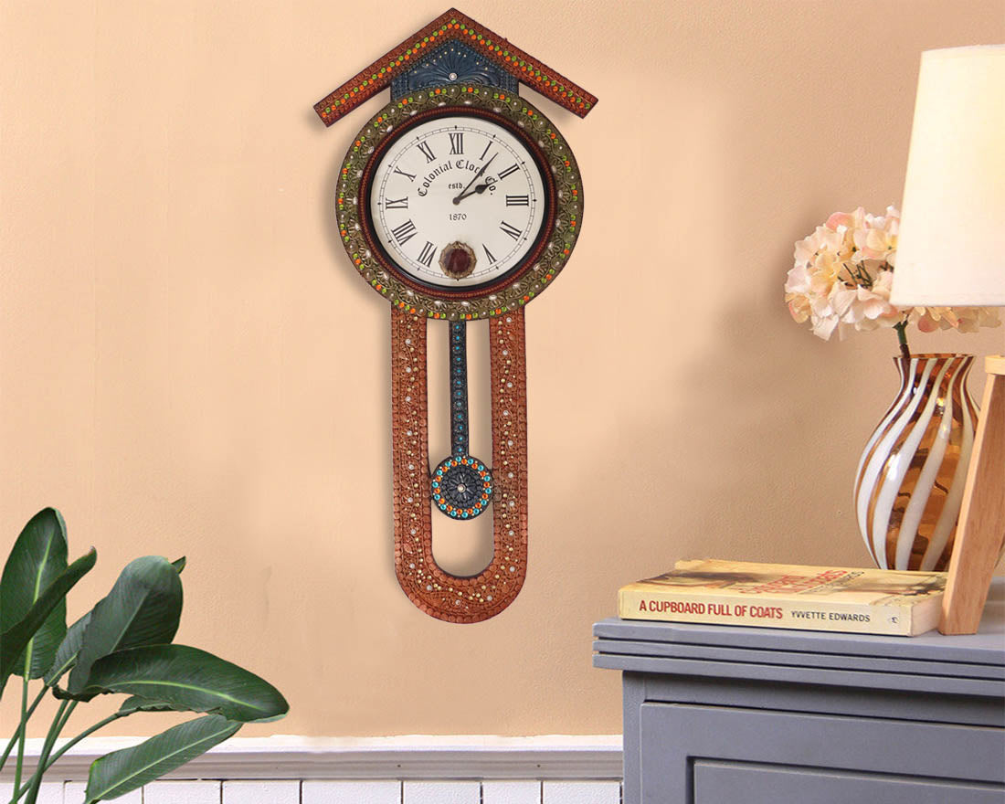 Buy vintage style wooden pendulum wall clock online at discount prices vintage style wooden pendulum wall clock amipublicfo Gallery