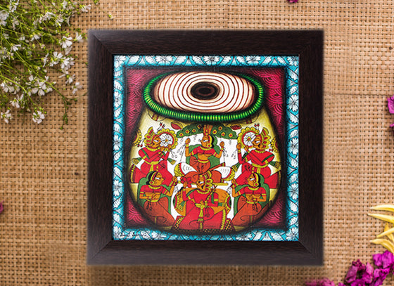 Hand-Painted Tabla Style Phad Wall Painting