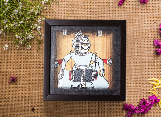 Handmade Royal Painting Black Frame