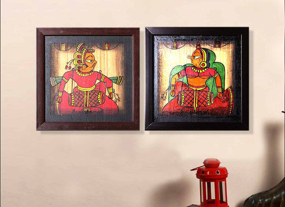 Tribal Phad Canvas Wall Painting Décor