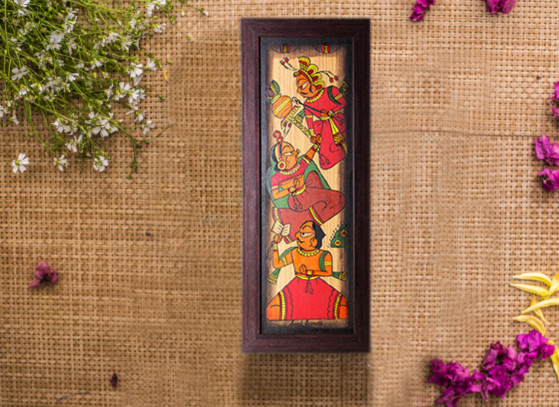 Handmade Phad Painting Canvas Home Décor