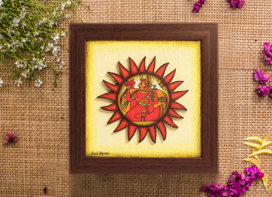 Sunflower Shaped Phad Wall Frame Décor Art