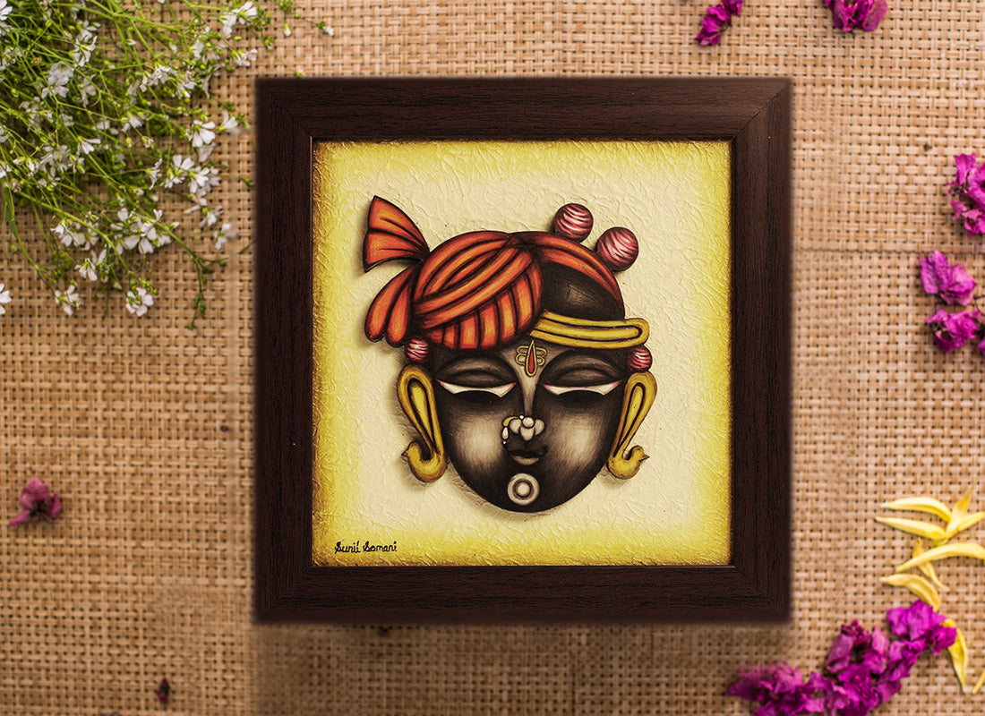 Divine Shreenathji Handcrafted Phad Painting Décor