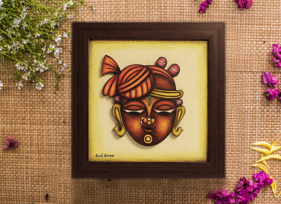 Lord Shreenathji Phad Wall Frame Art Design