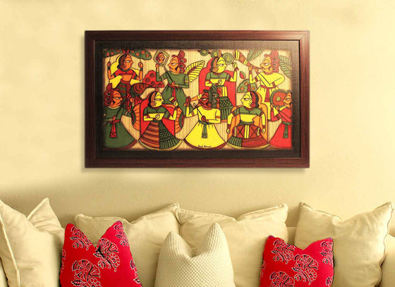 Antique Rajasthani Folks Phad Painting Art Design