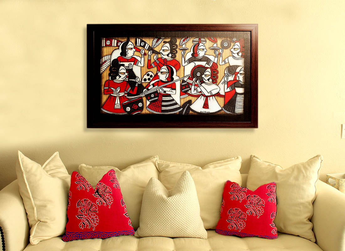 Buy Traditional Rajasthani Folks Phad Painting Wall Décor at Lowest ...