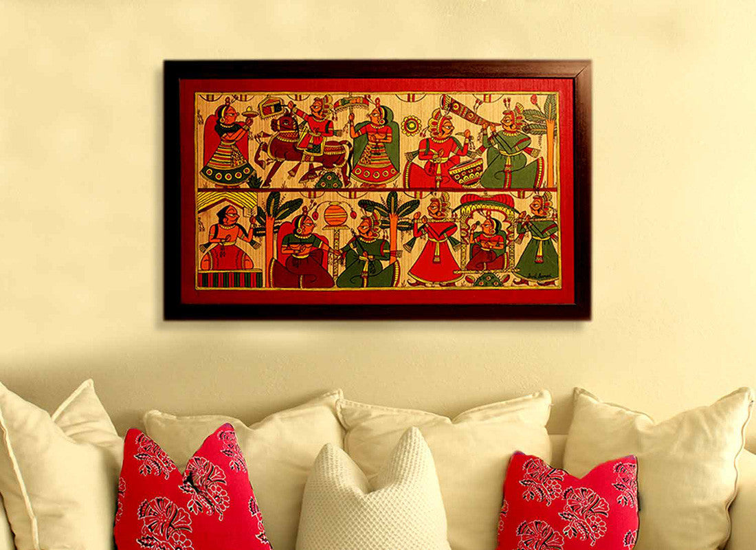 Buy Indian Wedding Phad Painting Art Décor at Lowest Rates On ...
