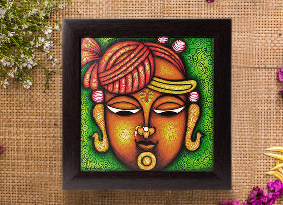 Handmade Canvas Shreenathji Phad Wall Painting