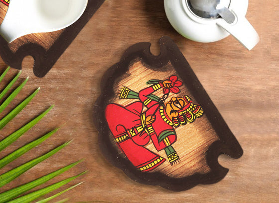 Phad Design Handcrafted Wooden Coaster Set