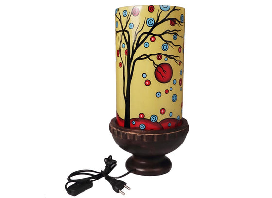 Multicolor Hand-painted Abstract Table Lamp