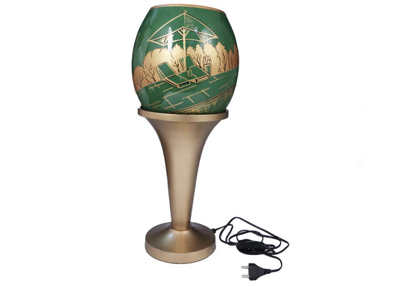 Hand-painted Summer Glass Table Lamp