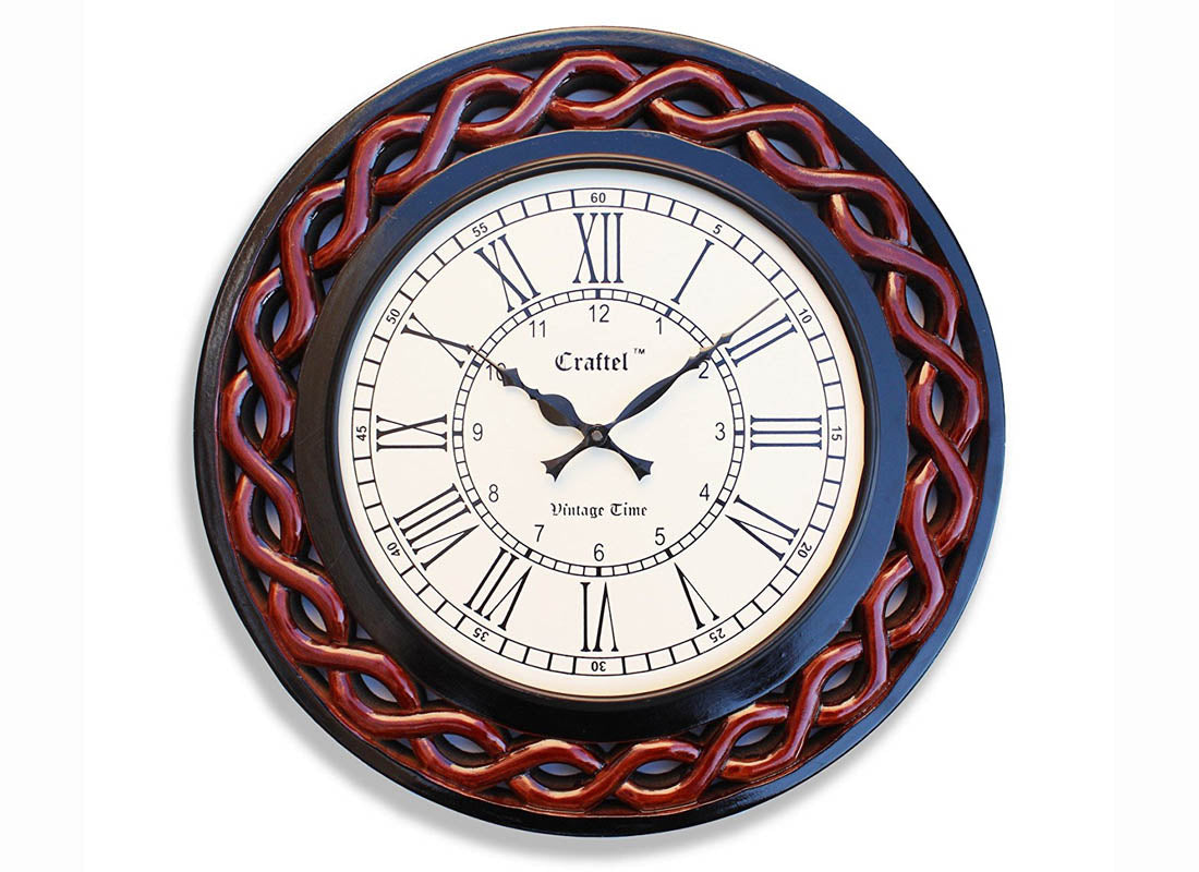 Decorative Hand carved Wall Clock