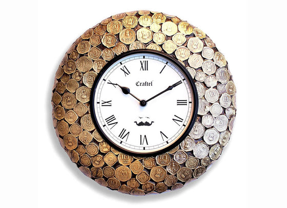 Antique Coin  Wall Clock