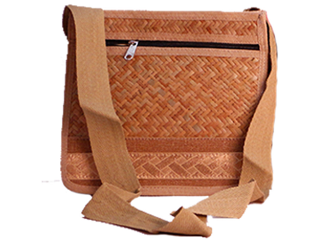 Cane handcrafted sling bag
