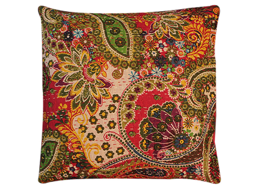 Cotton cushion covers with block print design