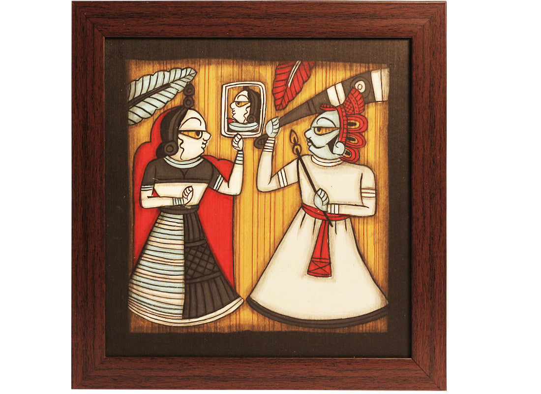 Couple dancing phad painting art décor