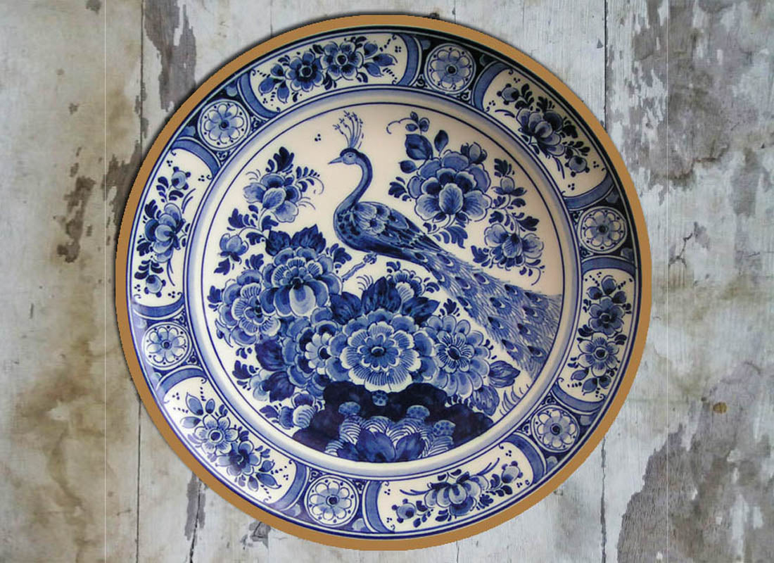 Blue And White Decorative Wall Plates Beauteous Buy Delftware Ceramic Decorative Wall Plate At Lowest Rates On Design Ideas